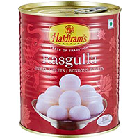 1 kg Haldiram Rasgulla ( Tin Pack ) to Patna