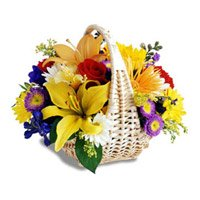 Flower Delivery India : Mix Flower Basket
