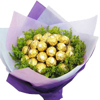 Place Online Order for Father's Day Gifts to India. 24 Pcs Ferrero Rocher Bouquet of Chocolates to India