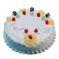 Order Online 00 gm Eggless Pineapple Cake Delivery in India