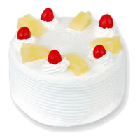 Online Cake Shop in India to send 2 Kg Eggless Pineapple Cake