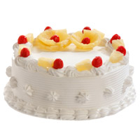 Get Rakhi with 1 Kg Pineapple Cake From 5 Star Hotel. Send Cake to India