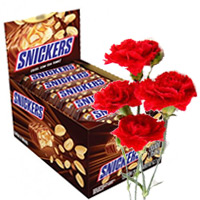 Best 32 Pcs Snickers Chocolate in India Online. Diwali Gifts Delivery in India