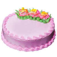 500 gm Eggless Strawberry Cake Delivery to India
