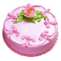 Send 1 Kg Eggless Strawberry Cake to India