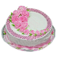 Best Online Cake Delivery in India that includes 2 Kg Eggless Strawberry Cake