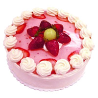 Send 1 Kg Strawberry Cakes to India From 5 Star Hotel on Rakhi