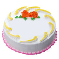 Send 500 gm Eggless Vanilla Cake to India