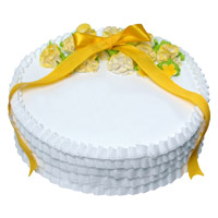 Buy 1 Kg Eggless Vanilla Cake to India