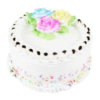 Deliver 2 Kg Eggless Vanilla Cake to India