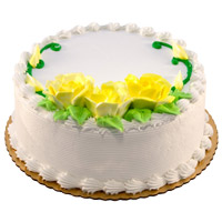 1 Kg Eggless Vanilla Cake Order Online India from 5 Star Hotel