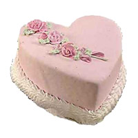 Cake Delivery to India comprising of 2 Kg Heart Shape Vanilla Cake