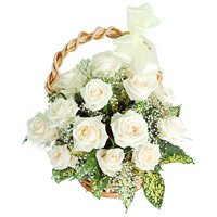 White Roses Basket to India