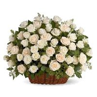 Flowers to India : White Roses