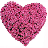 Flowers to India : Online Flowers to India : Valentine Flower Delivery ... Pink Roses And Hearts