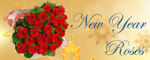 New Year Roses to Cuttack