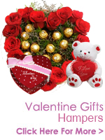 Send Valentines Day Gifts to India, Valentine Flowers to India